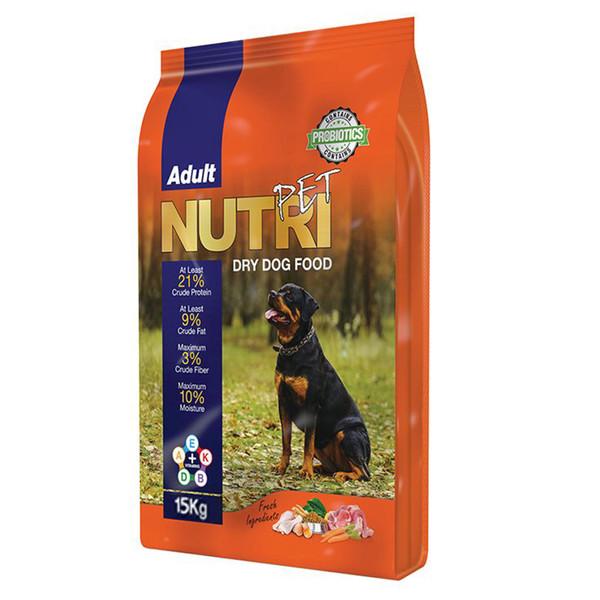 غذای خشک پروبیوتیک سگ نوتری پت مدل  Adult 21Percent وزن 15 کیلوگرم
