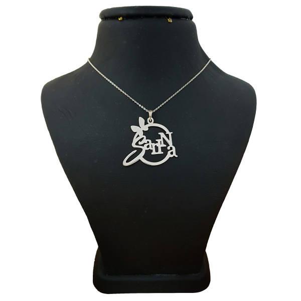 گردنبند نقره زنانه طرح سارینا کد UN0033