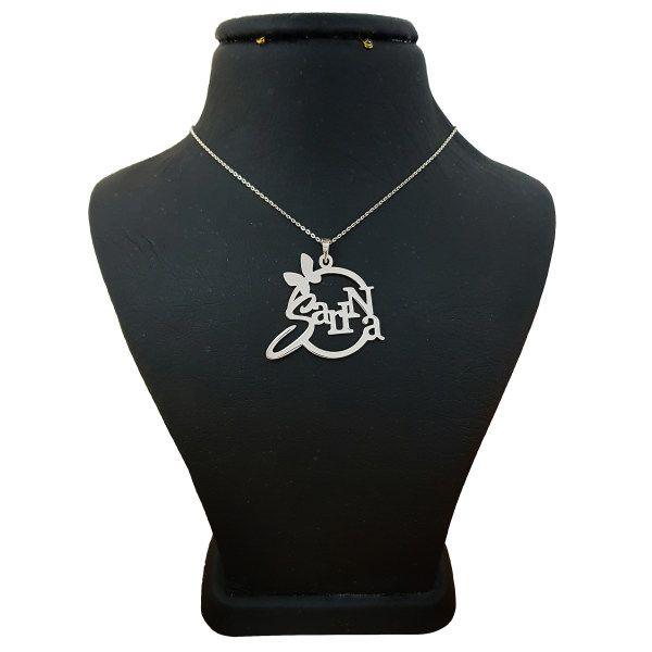 گردنبند نقره زنانه طرح سارینا کد UN0033 -  - 2
