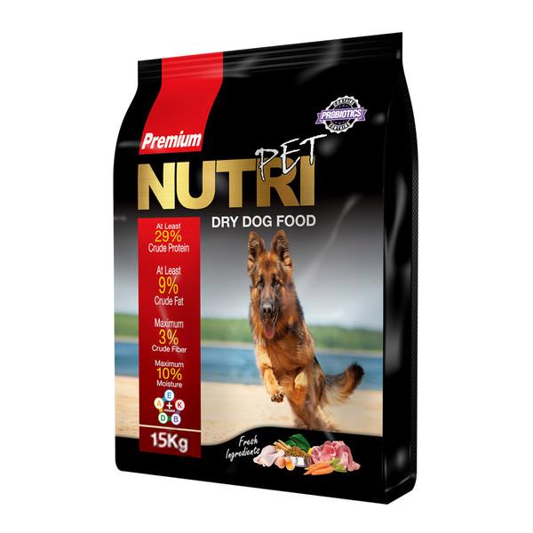 غذای خشک پروبیوتیک سگ نوتری پت مدل Premium 29 Percent وزن 15 کیلوگرم
