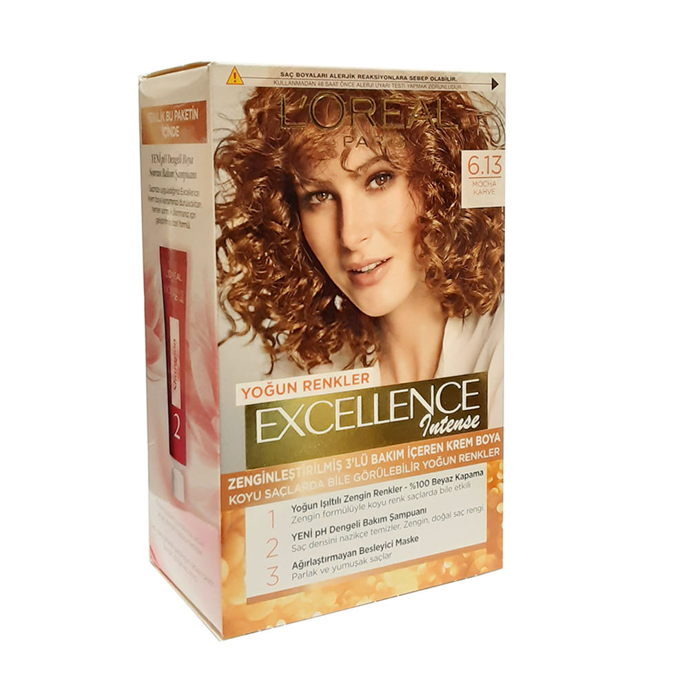 کیت رنگ مو لورآل سری Excellence شماره 6.13 حجم 48 میلی لیتر رنگ مسی -  - 4