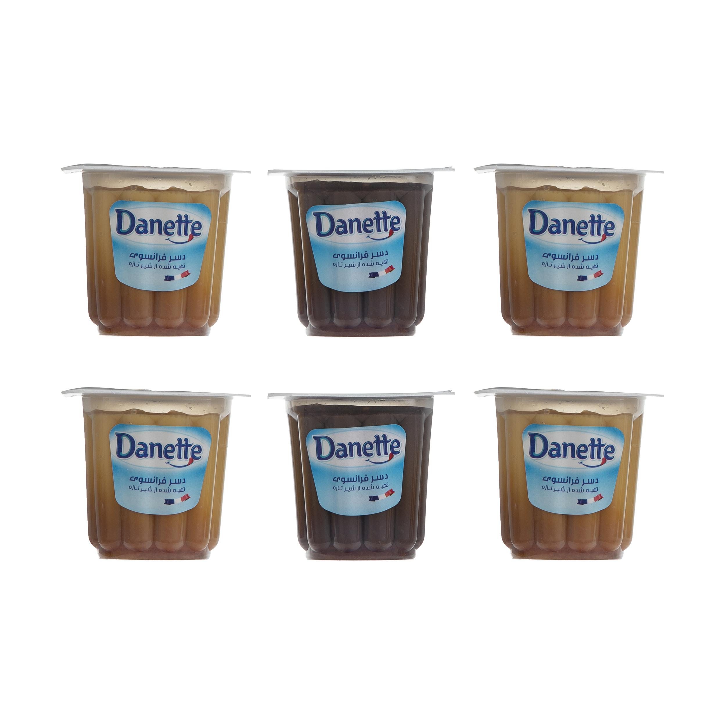 دسر دنت با طعم شکلات کارامل و کرم کارامل - 100 گرم مجموعه 6 عددی