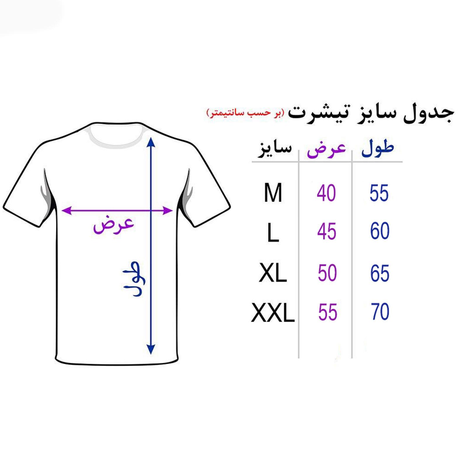 تی شرت مردانه 27  طرح خاکی باش کد B126 -  - 4