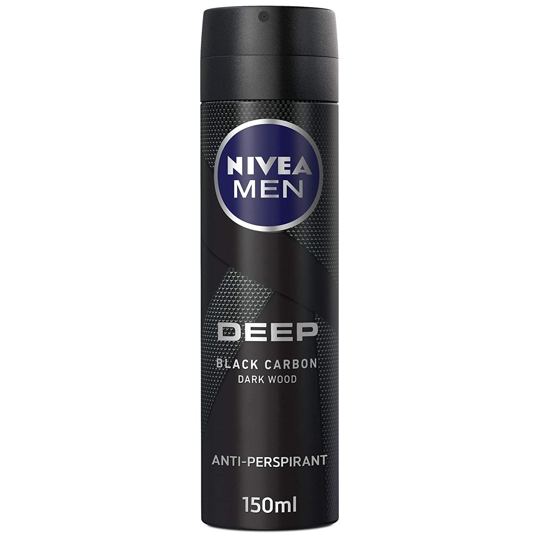 اسپری ضد تعریق مردانه نیوآ سری deep مدل Black Carbon حجم 150 میلی لیتر