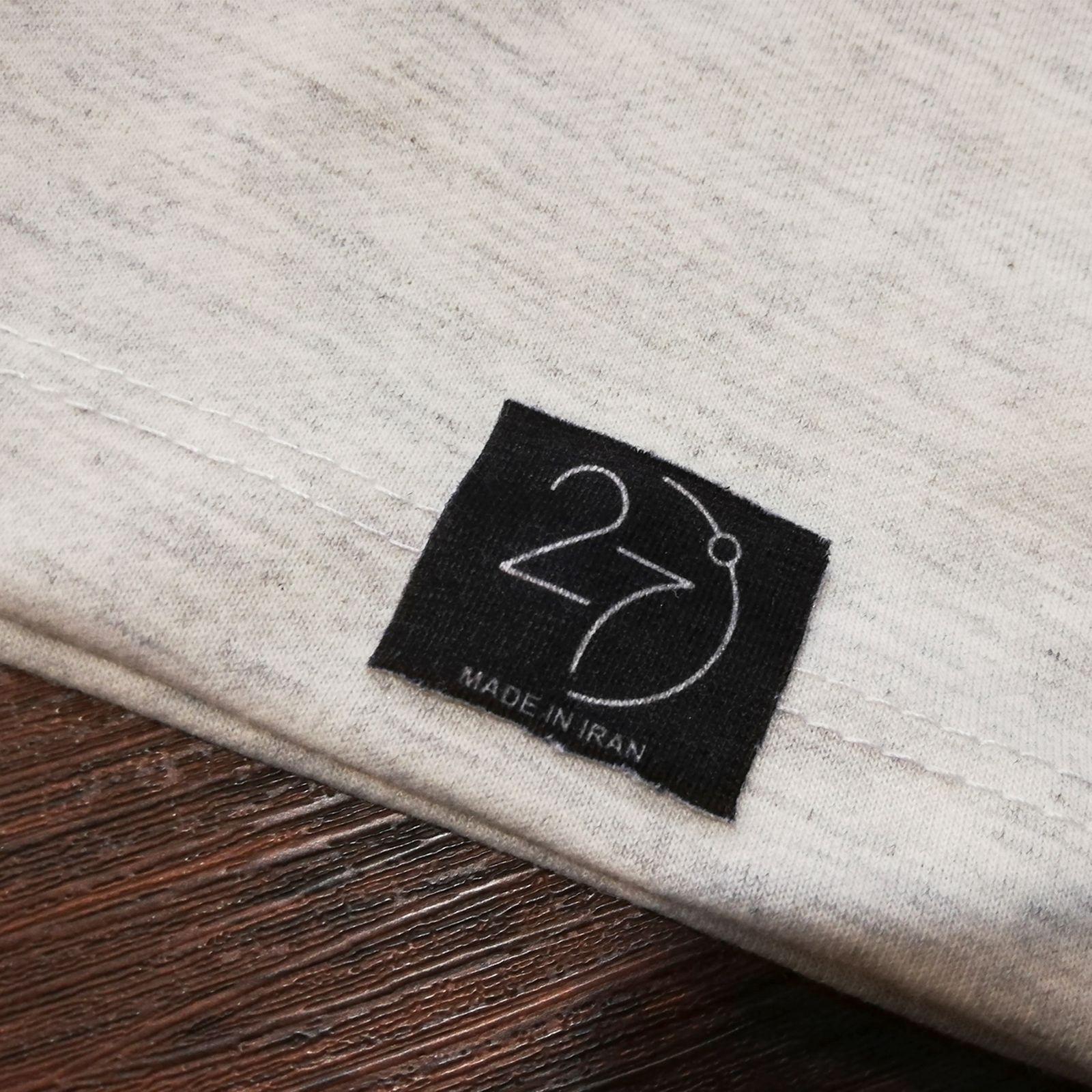 تیشرت آستین کوتاه زنانه 27 طرح حرف ف مدل J03 -  - 4
