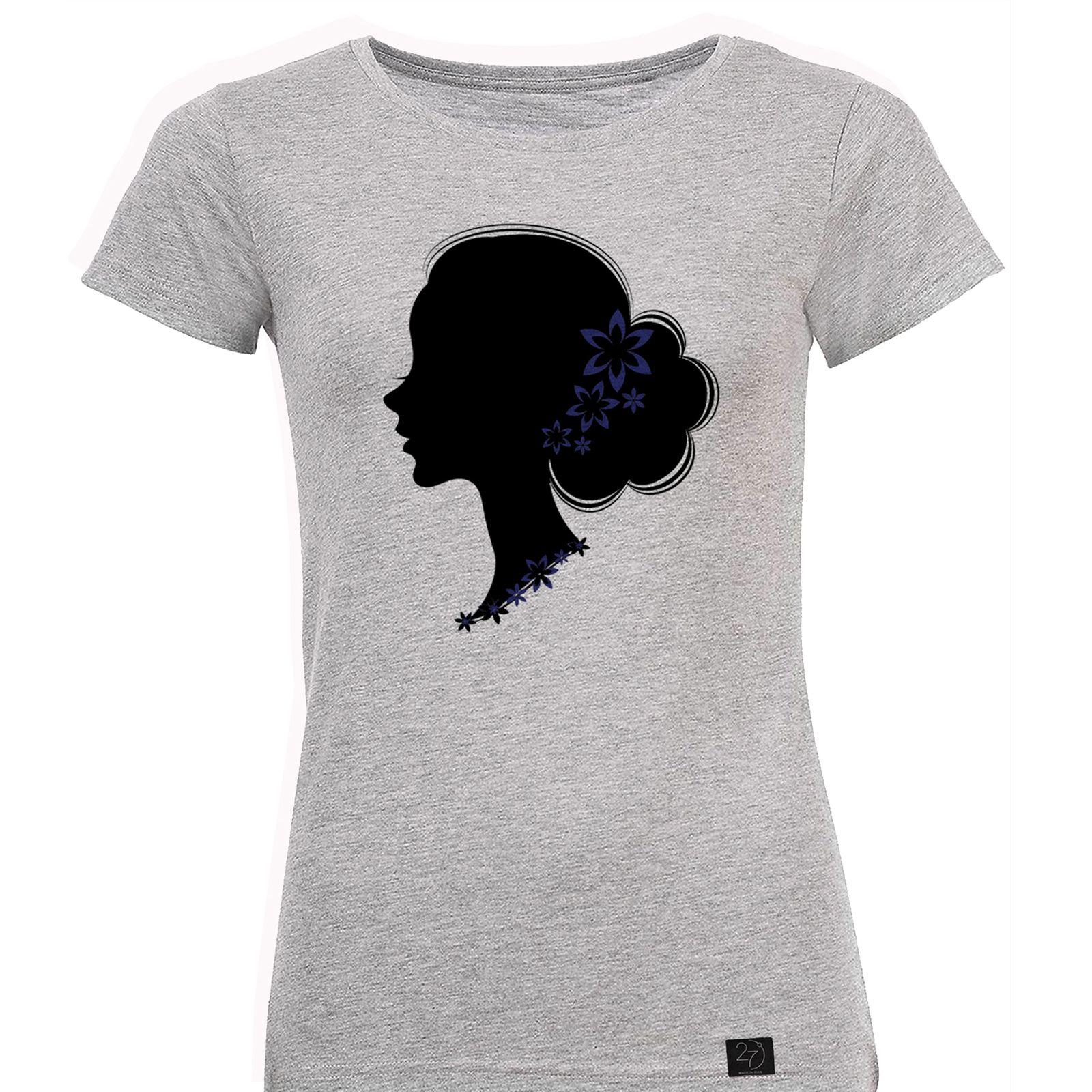 تیشرت زنانه 27 طرح نیمرخ کد J04 -  - 2