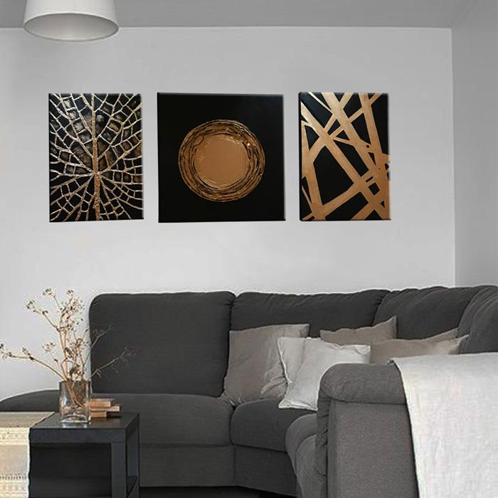 خرید                      تابلوی نقاشی اکریلیک مدل مدرن آرت مجموعه 3 عددی