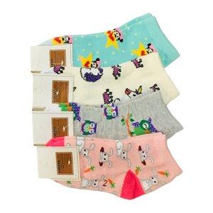 جوراب دخترانه کد 08 مجموعه 4 عددی