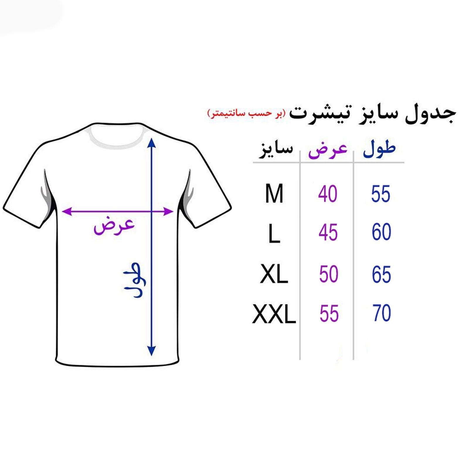 تیشرت مردانه 27 طرح خلیج فارس کد H08 -  - 5