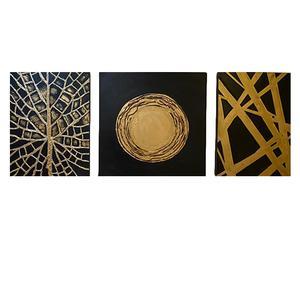 تابلوی نقاشی اکریلیک مدل مدرن آرت مجموعه 3 عددی