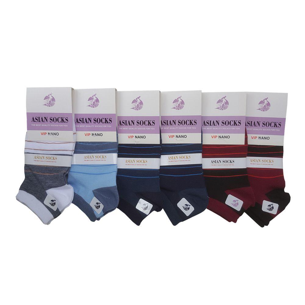 جوراب زنانه آسیان کد PH325 مجموعه 6 عددی