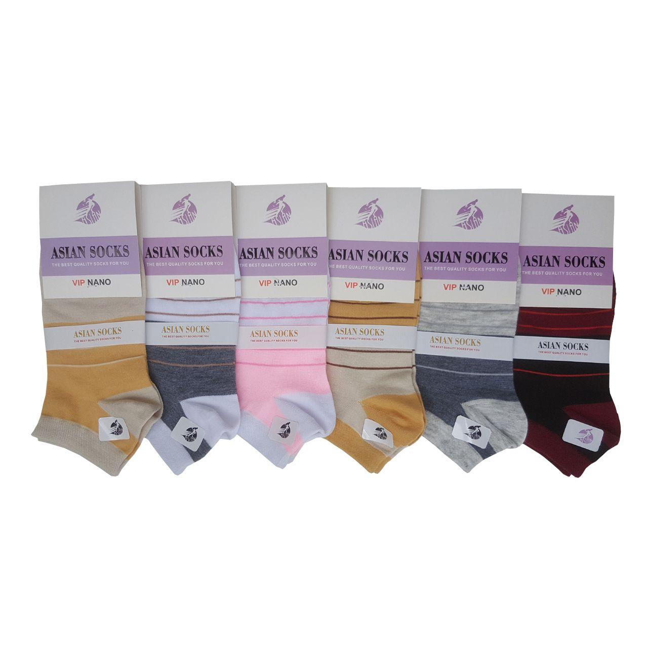 جوراب زنانه آسیان کد PH326 مجموعه 6 عددی -  - 2