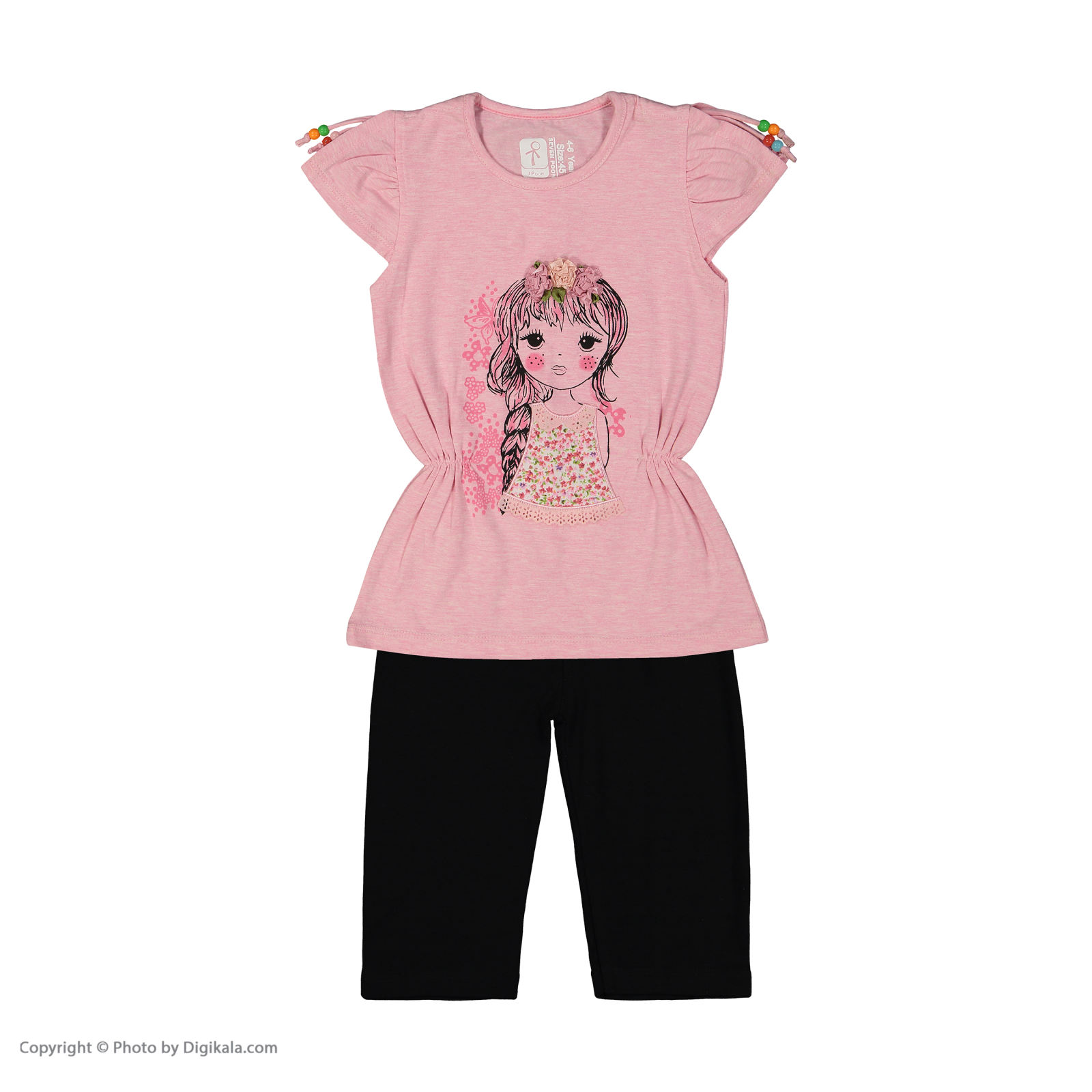 ست تی شرت و شلوار دخترانه سون پون مدل 1391319-85