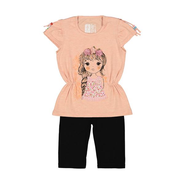 ست تی شرت و شلوار دخترانه سون پون مدل 1391319-21