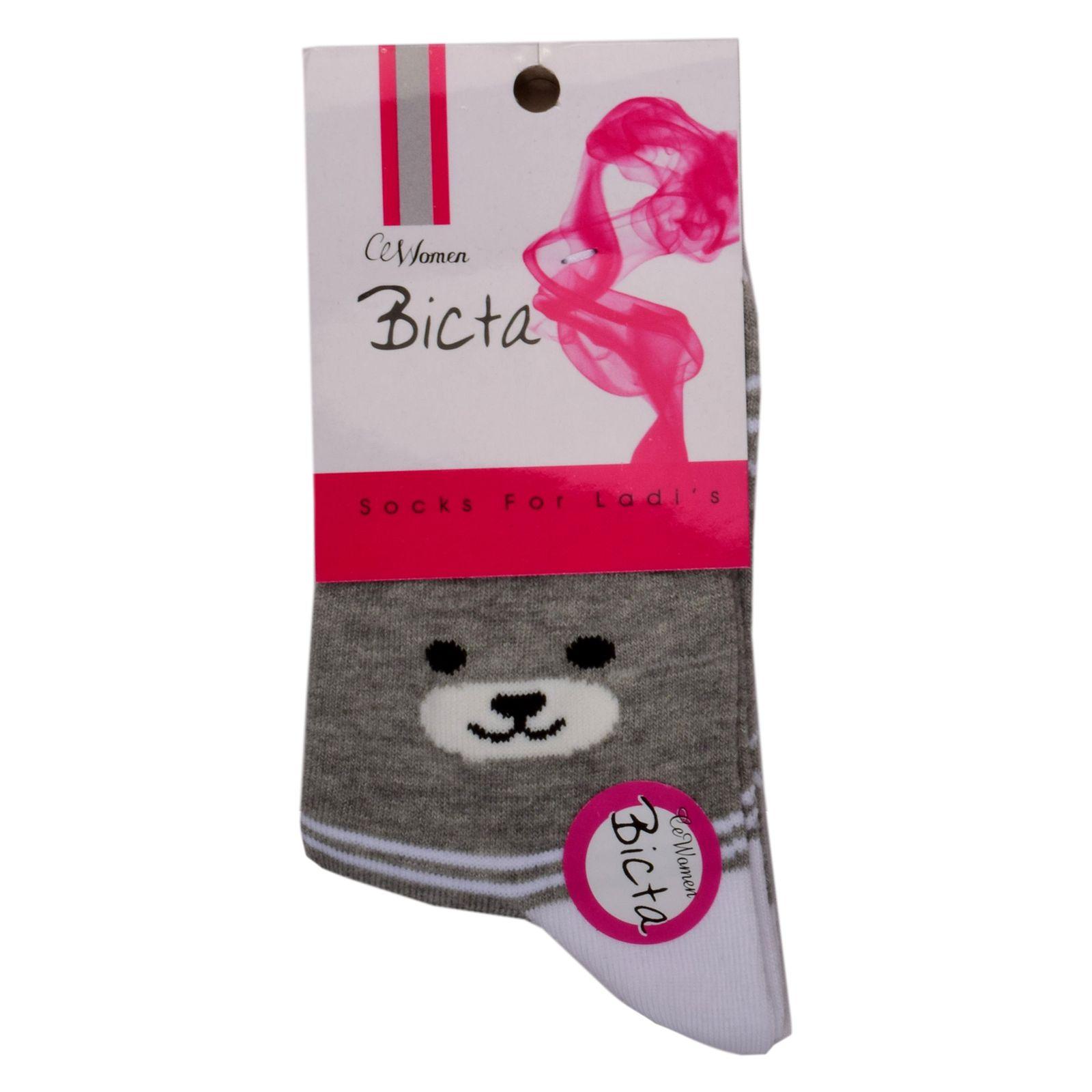 جوراب دخترانه بیکتا طرح گربه کد BC36661 -  - 4