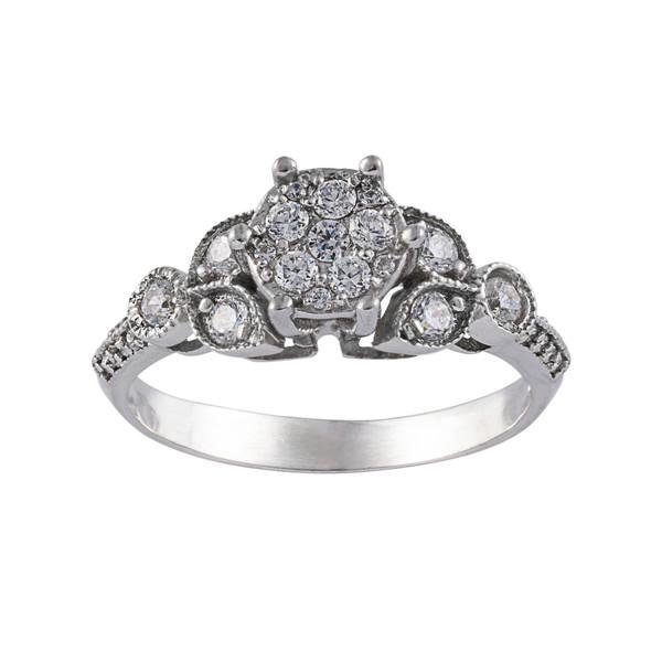 انگشتر طلا 18 عیار زنانه جواهری سون مدل 2059