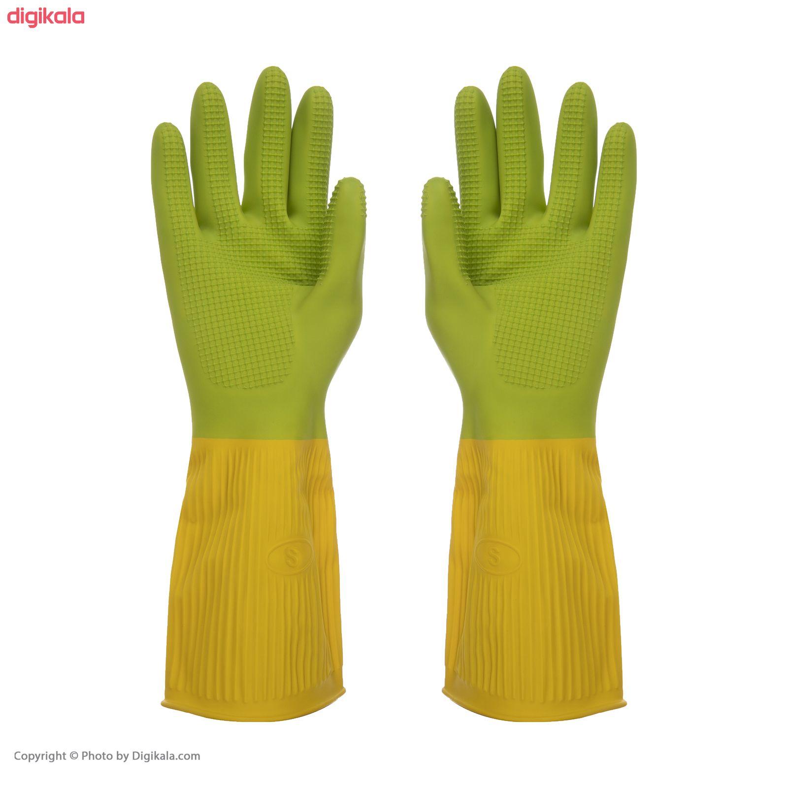 دستکش آشپزخانه گلرنگ کد 5100166 سایز S main 1 1