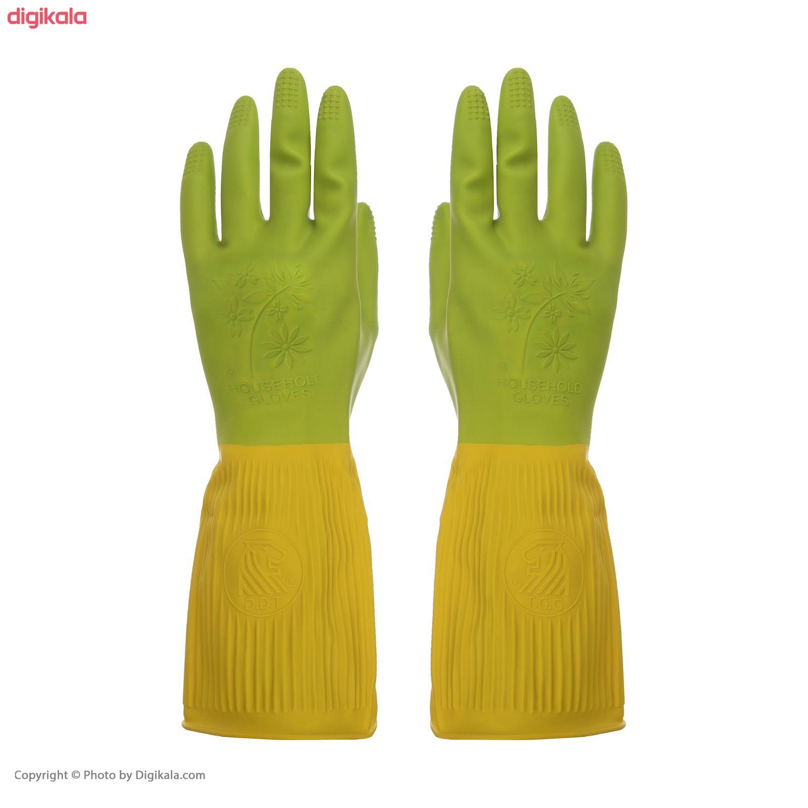 دستکش آشپزخانه گلرنگ کد 5100166 سایز S main 1 4