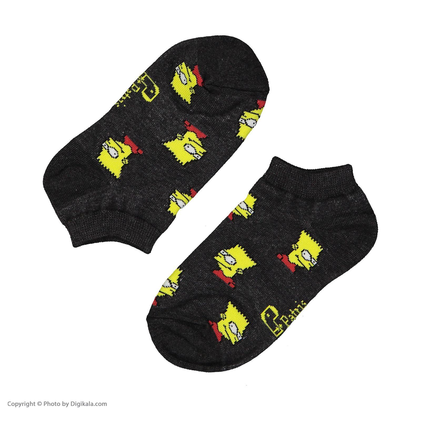 جوراب بچگانه پاتریس طرح سیمپسون مدل 2271192-94 -  - 3