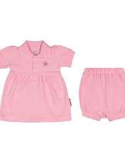 ست پیراهن و شلوارک نوزادی دخترانه آدمک مدل 2171109-84 -  - 1