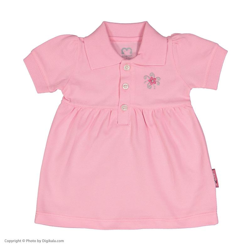ست پیراهن و شلوارک نوزادی دخترانه آدمک مدل 2171109-84