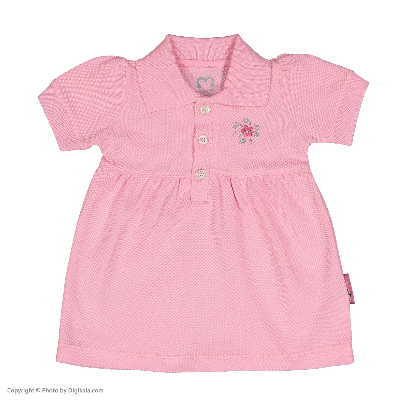 ست پیراهن و شلوارک نوزادی دخترانه آدمک مدل 2171109-84 -  - 4
