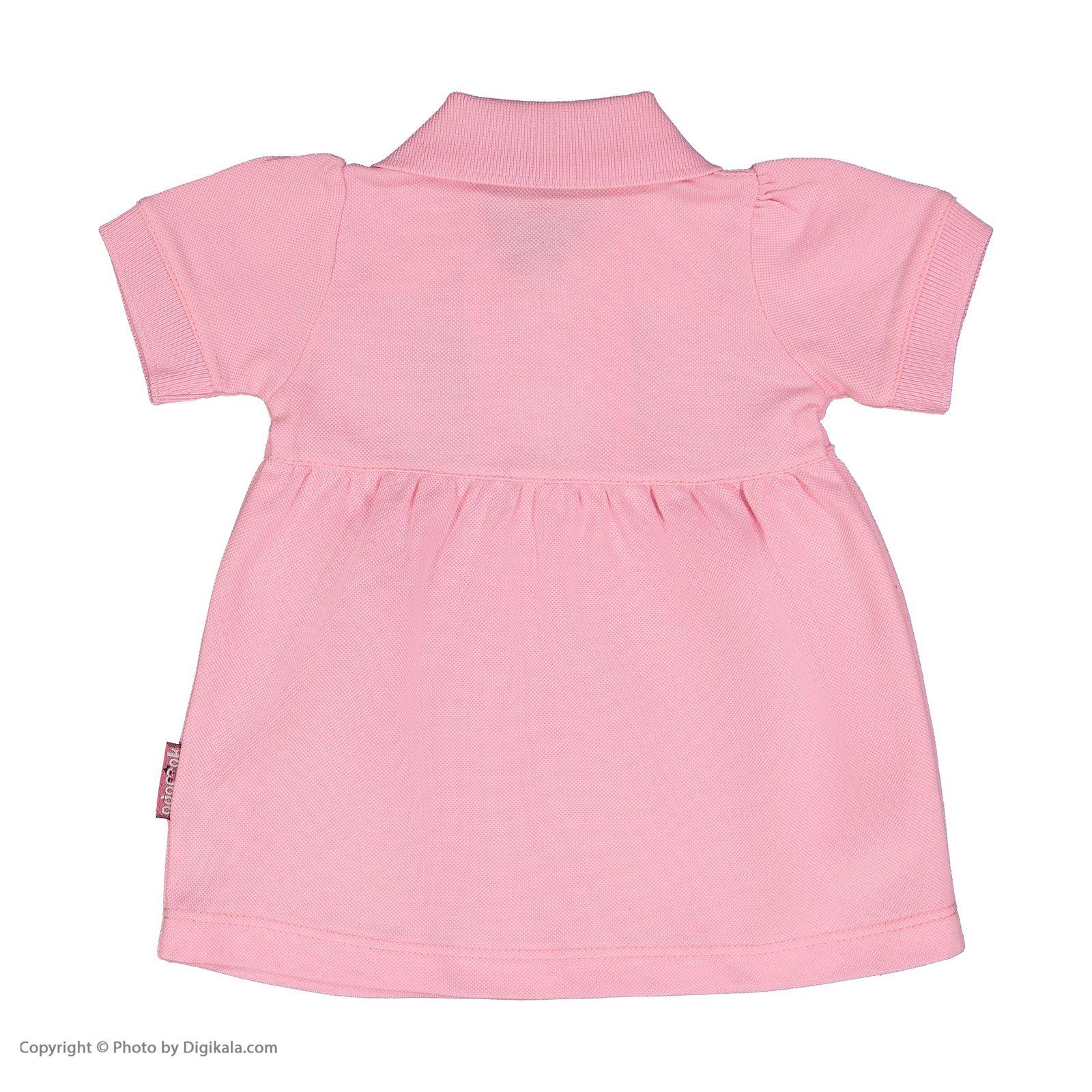 ست پیراهن و شلوارک نوزادی دخترانه آدمک مدل 2171109-84 -  - 5