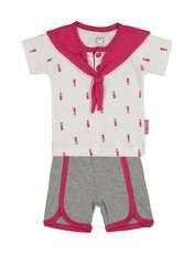 ست تی شرت و شورت نوزادی دخترانه آدمک مدل 2171112-88 -  - 1