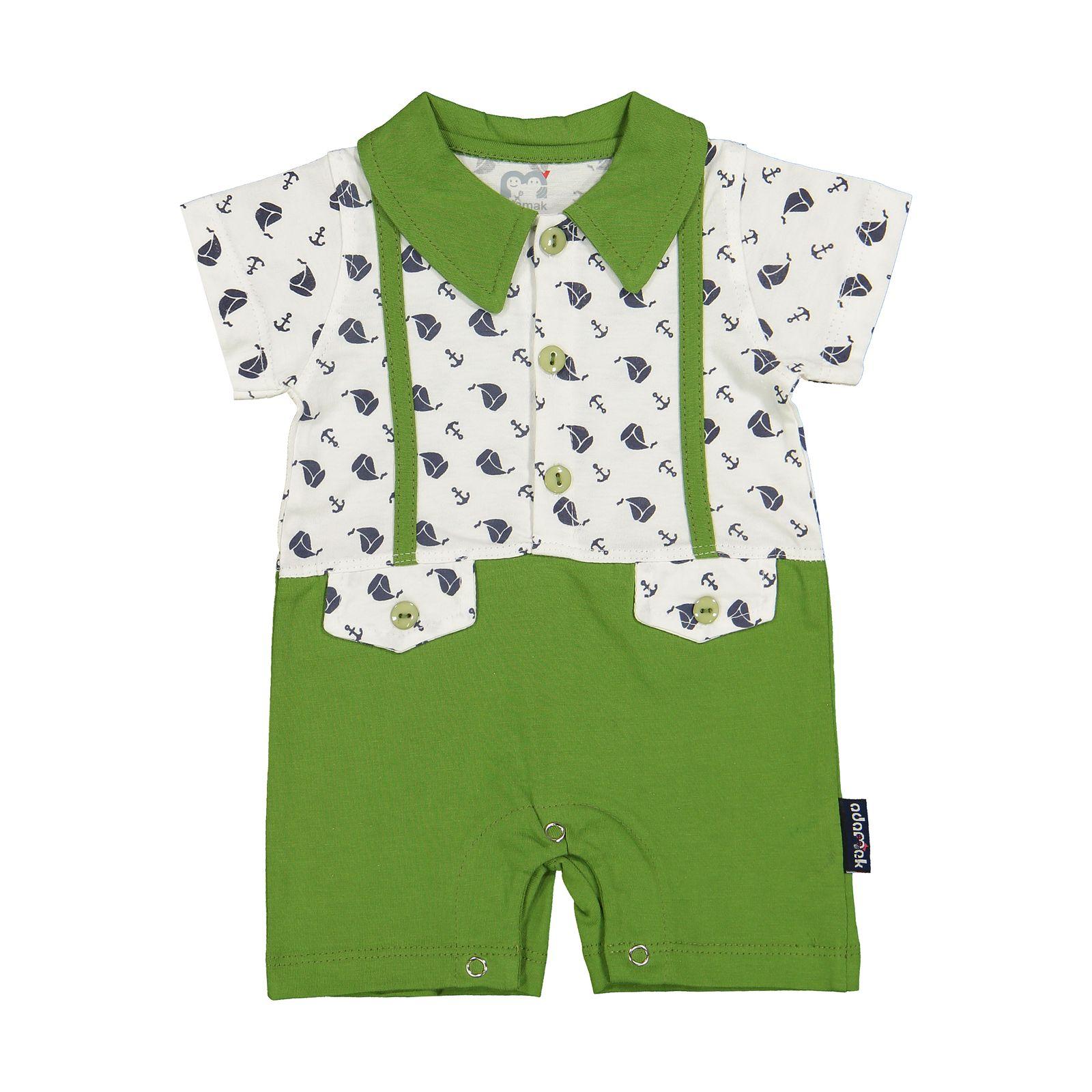 سرهمی نوزادی پسرانه آدمک مدل 2171110-42 -  - 2
