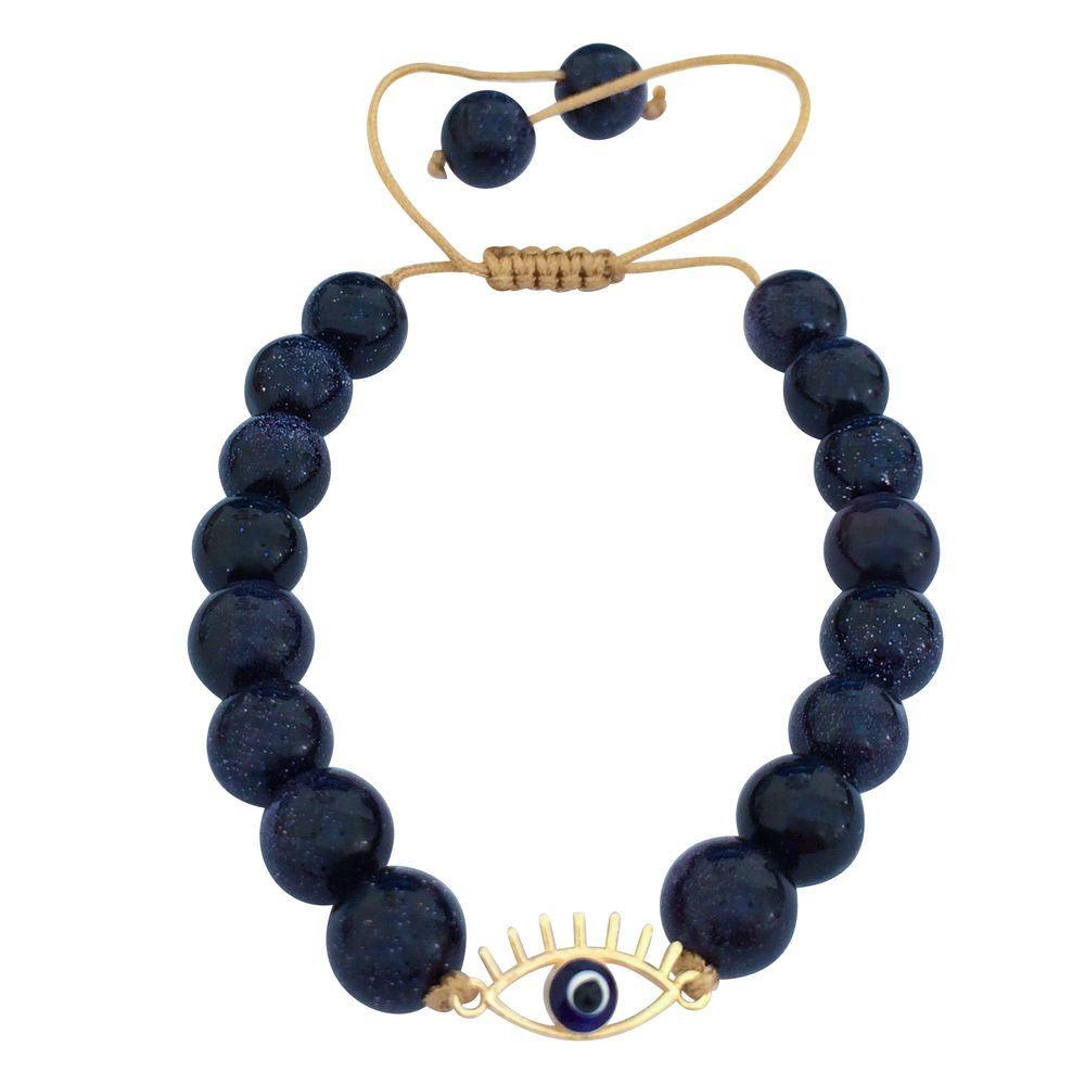 دستبند طلا 18 عیار زنانه الماسین آذر طرح چشم نظر کد CH03