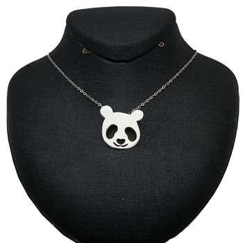 گردنبند نقره زنانه طرح پاندا کد UN0053