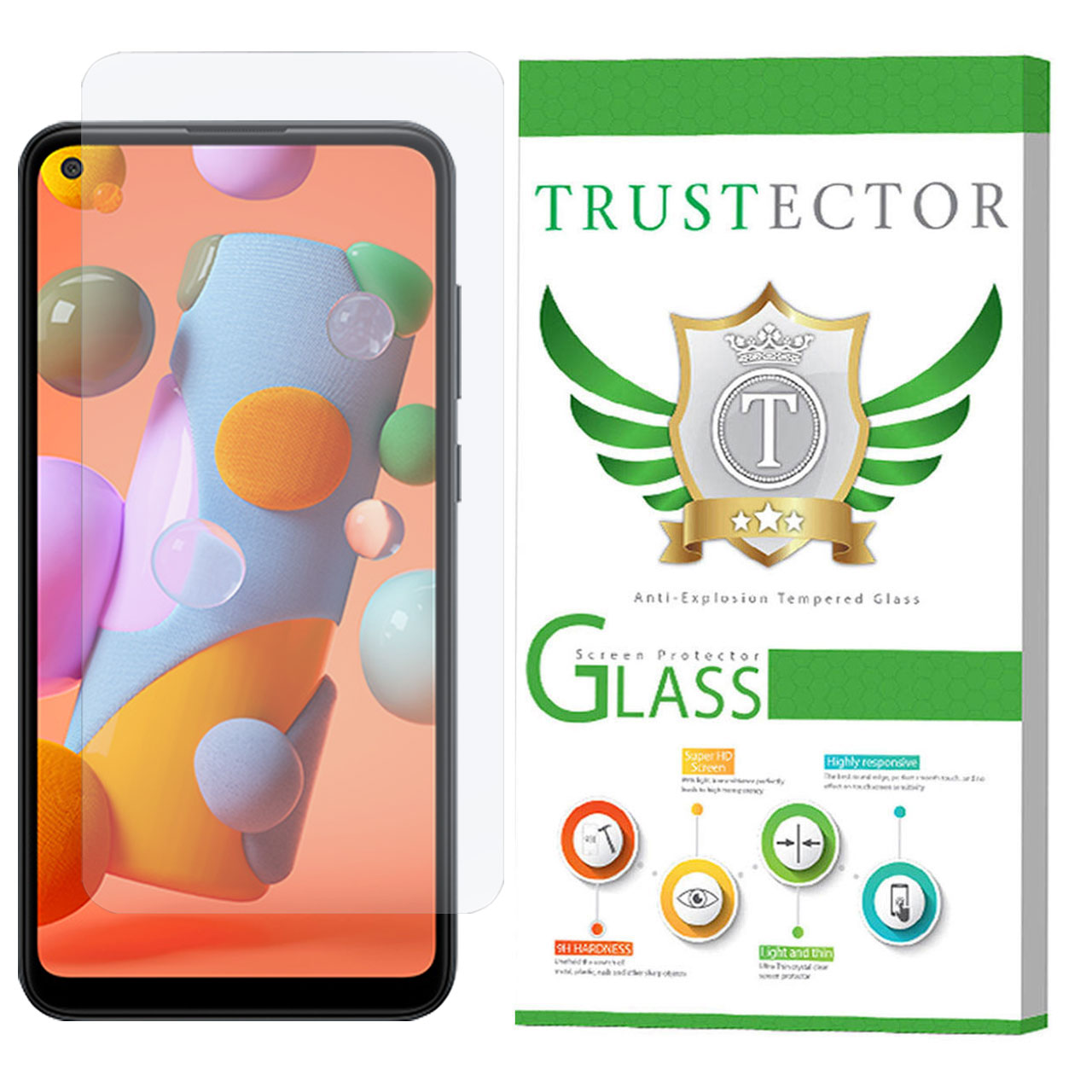 محافظ صفحه نمایش تراستکتور مدل GLS مناسب برای گوشی موبایل سامسونگ Galaxy A11               ( قیمت و خرید)