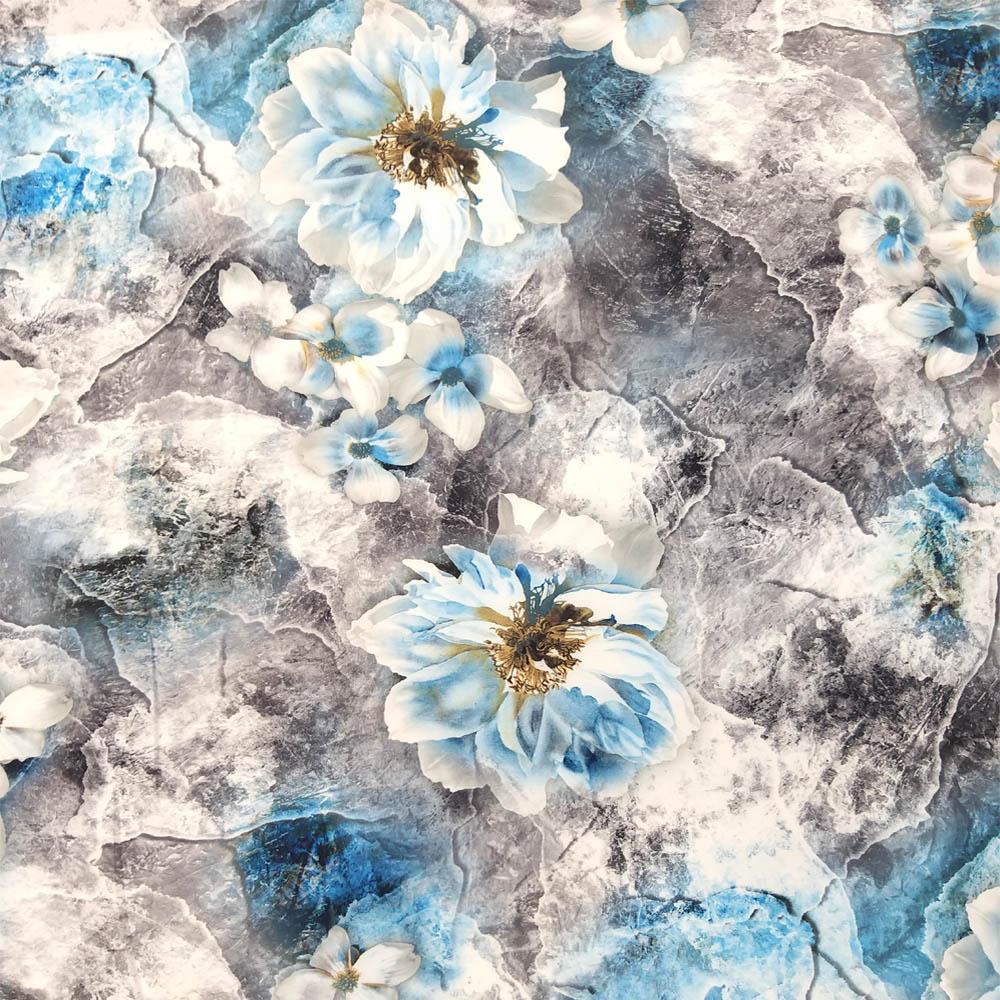 خرید                      پارچه لباس طرح گل کد 656
