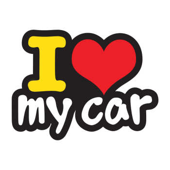 برچسب بدنه خودرو طرح love my car کد 02