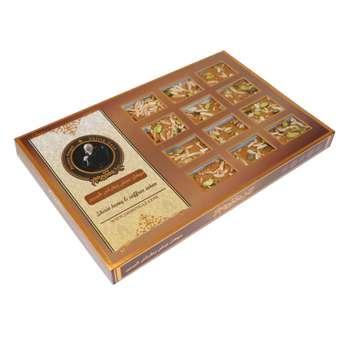 سوهان عسلی زعفرانی گز شیرین - 400 گرم