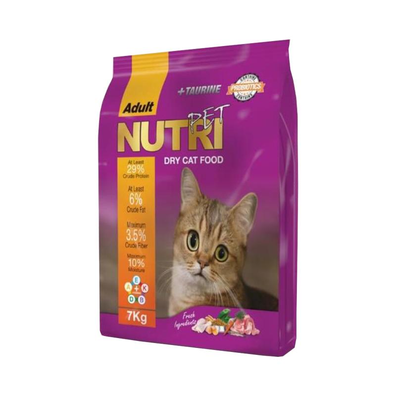 غذای خشک پروبیوتیک گربه نوتری پت مدل Adult وزن 7 کیلوگرم