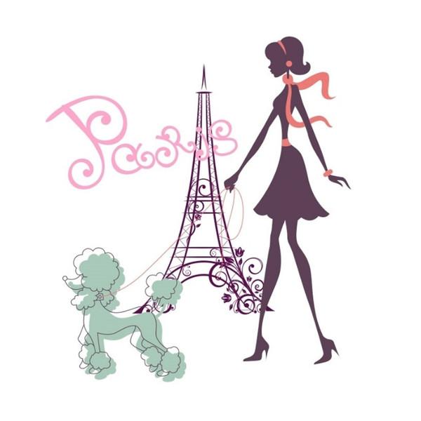 رومیزی تم تولد مدل دختر پاریس کد par20