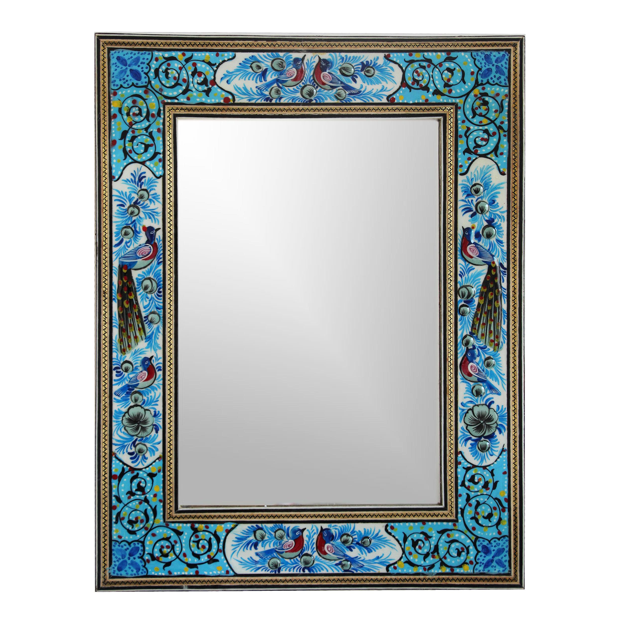 خرید                      قاب آینه خاتم کاری مدل 1017