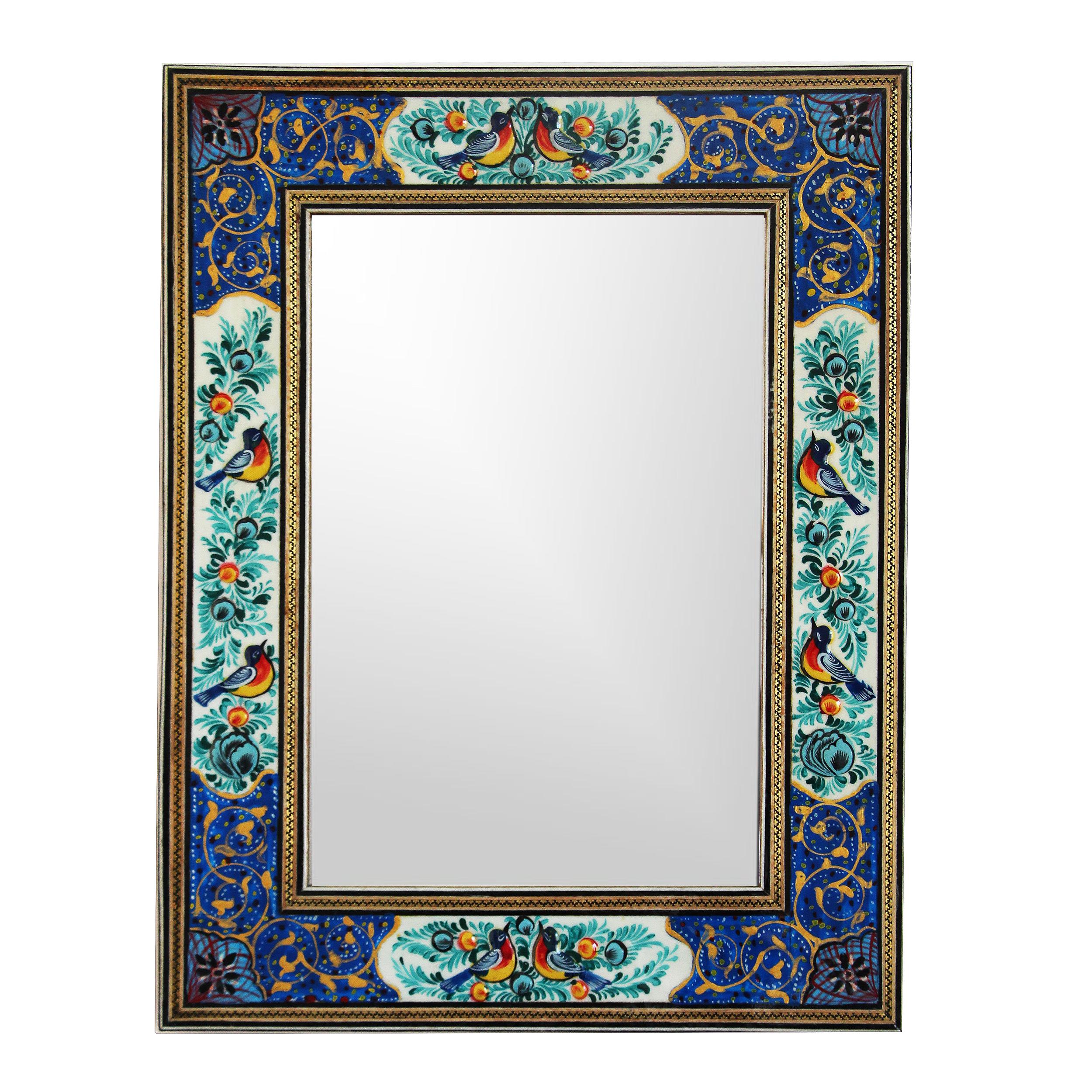 خرید                      قاب آینه خاتم کاری مدل 1-1017