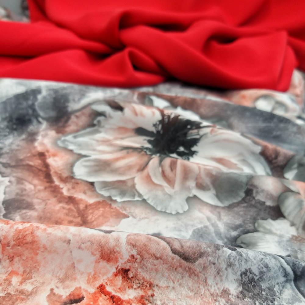 خرید                      پارچه لباس طرح گل کد 4831