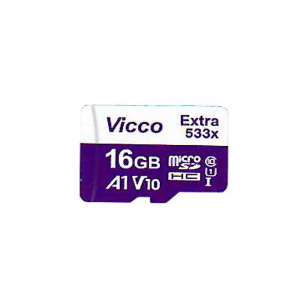 کارت حافظه microSDXC ویکومن مدل Extra 533X کلاس 10 استاندارد UHS-I U1 سرعت 80MBps ظرفیت 16گیگابایت
