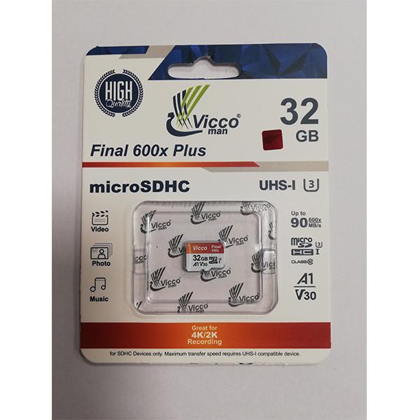 کارت حافظه microSDHC ویکومن مدل Final 600X کلاس 10 استاندارد UHS-I U3 سرعت 90MBps ظرفیت 32 گیگابایت