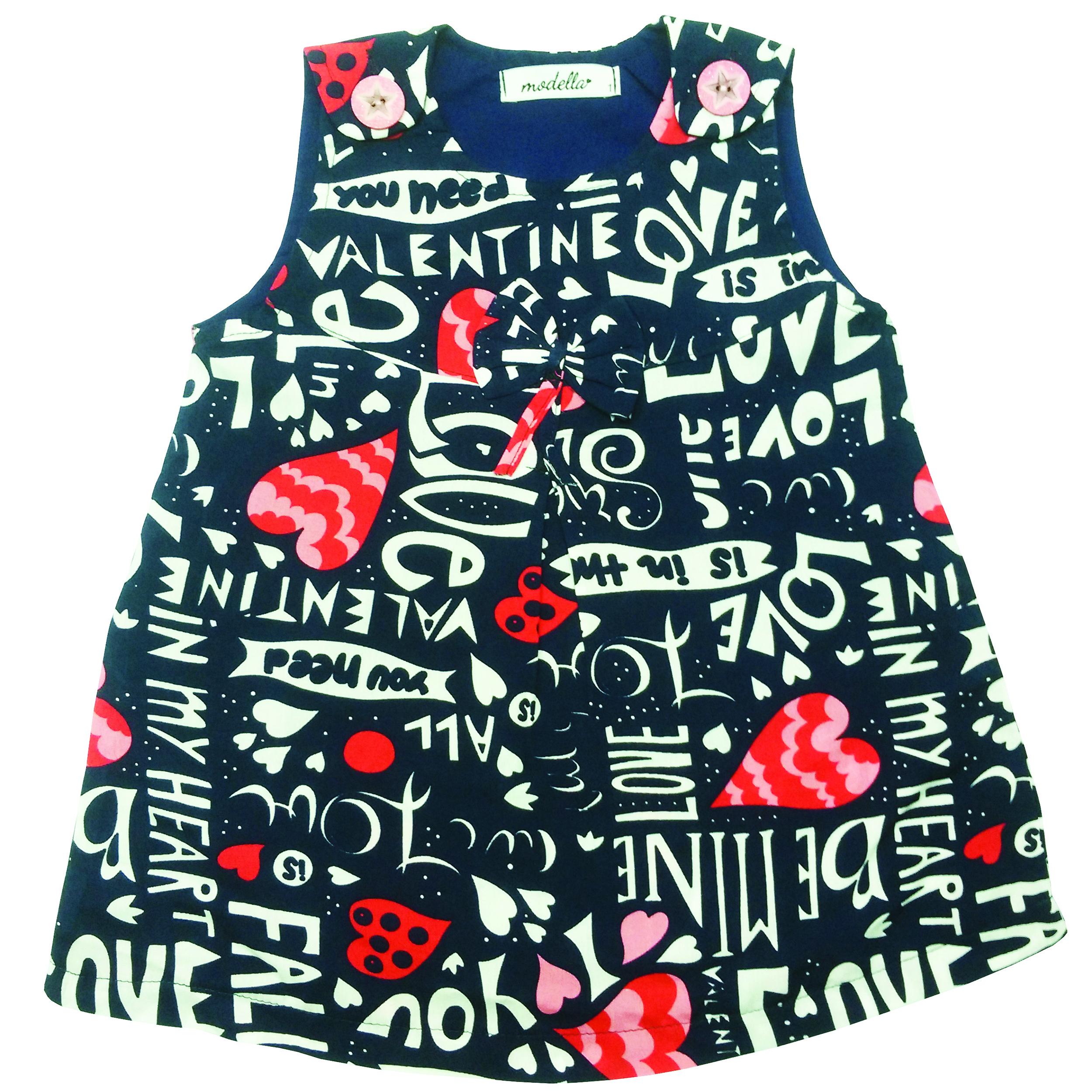 پیراهن دخترانه مدلا طرح عشق کد D1984