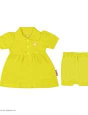 ست پیراهن و شلوارک نوزادی دخترانه آدمک مدل 2171109-19 -  - 2