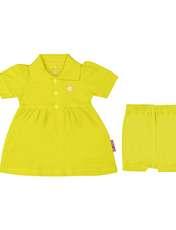 ست پیراهن و شلوارک نوزادی دخترانه آدمک مدل 2171109-19 -  - 1