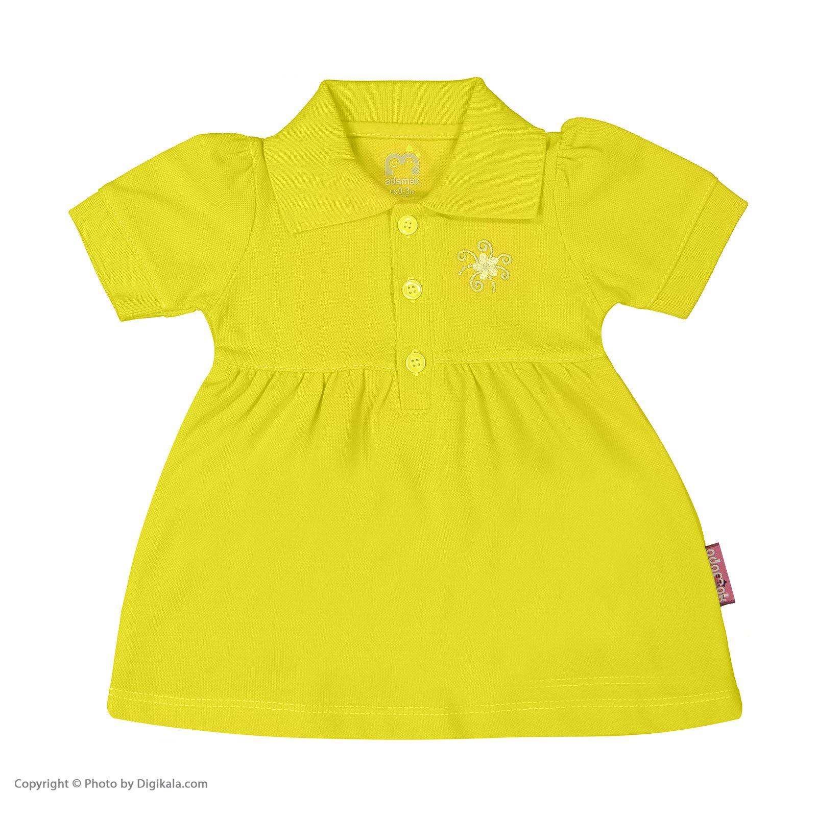 ست پیراهن و شلوارک نوزادی دخترانه آدمک مدل 2171109-19 -  - 4