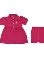 ست پیراهن و شلوارک نوزادی دخترانه آدمک مدل 2171109-88 -  - 1
