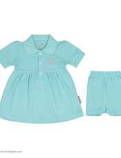 ست پیراهن و شلوارک نوزادی دخترانه آدمک مدل 2171109-53 -  - 2