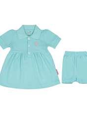 ست پیراهن و شلوارک نوزادی دخترانه آدمک مدل 2171109-53 -  - 1