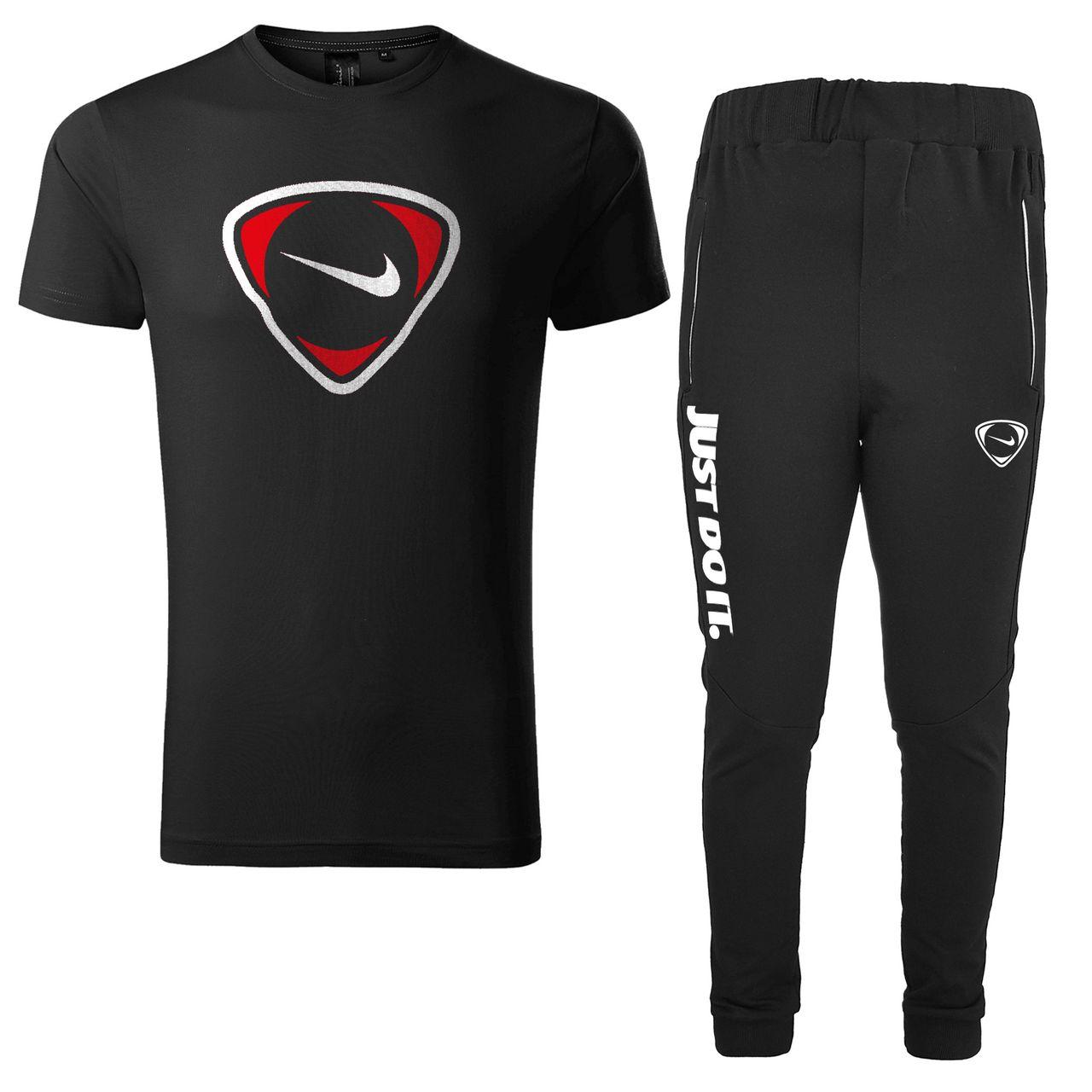 ست تی شرت و شلوار ورزشی مردانه کد 903033 رنگ مشکی                     غیر اصل